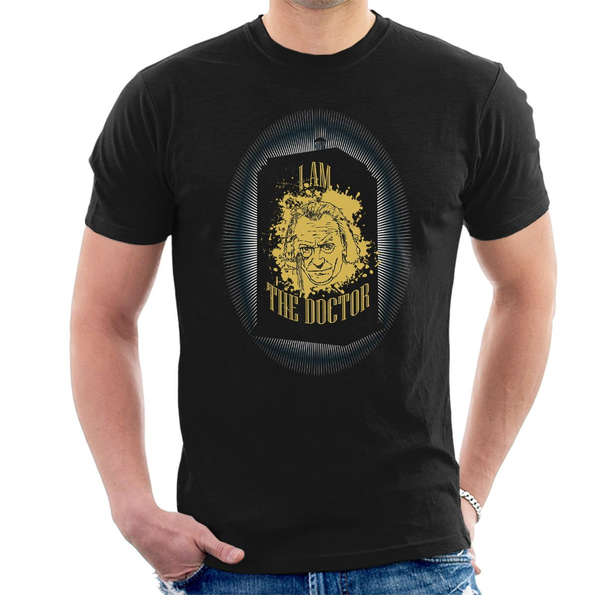 summer fashion tee shirt The First Doctor Who Hartnell Tardis Mens T-Shirt