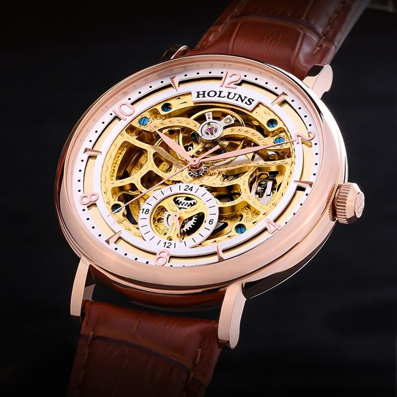 200 m Plongeur Creux Squelette Automatique Mécanique Montres Hommes Top Marque De Luxe D'affaires En Acier Plein Gagnant Montre-Bracelet Horloge Heure