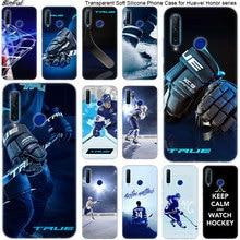 Hockey Su ghiaccio Pista di Pattinaggio di sport Molle Del Silicone Cassa Del Telefono per Huawei Honor 20 20i 10 9 8 Lite 8X 8C 8A 8 S 7 S 7A Pro Vista 20 di Modo Della Copertura