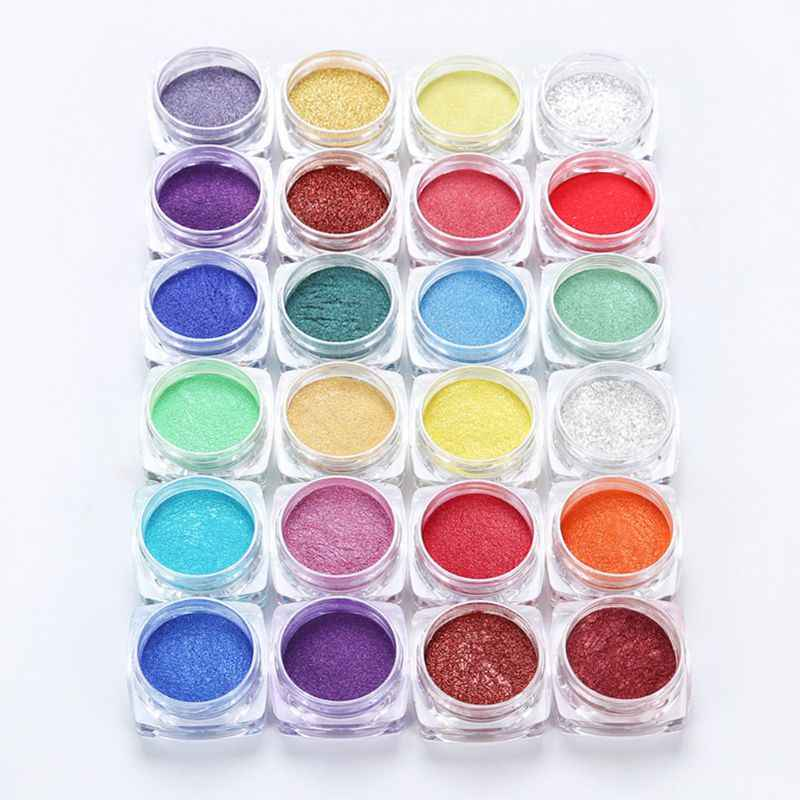 12 Colors Pearlescent Mica Pigment Powder Mica Powder Epoxy Resin Dye Pearl Mica Mineral Powder Craft DIY Jewelry Making