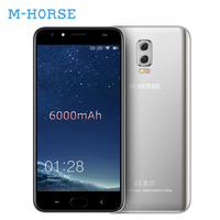 M-HORSE Power 2 6000 mAh Smartphone Android 7.0 Quad Core 2 GB + 16 GB 5.5 Pollice di Impronte Digitali 4G sbloccato Telefoni Cellulari BT 5.0 Telefone