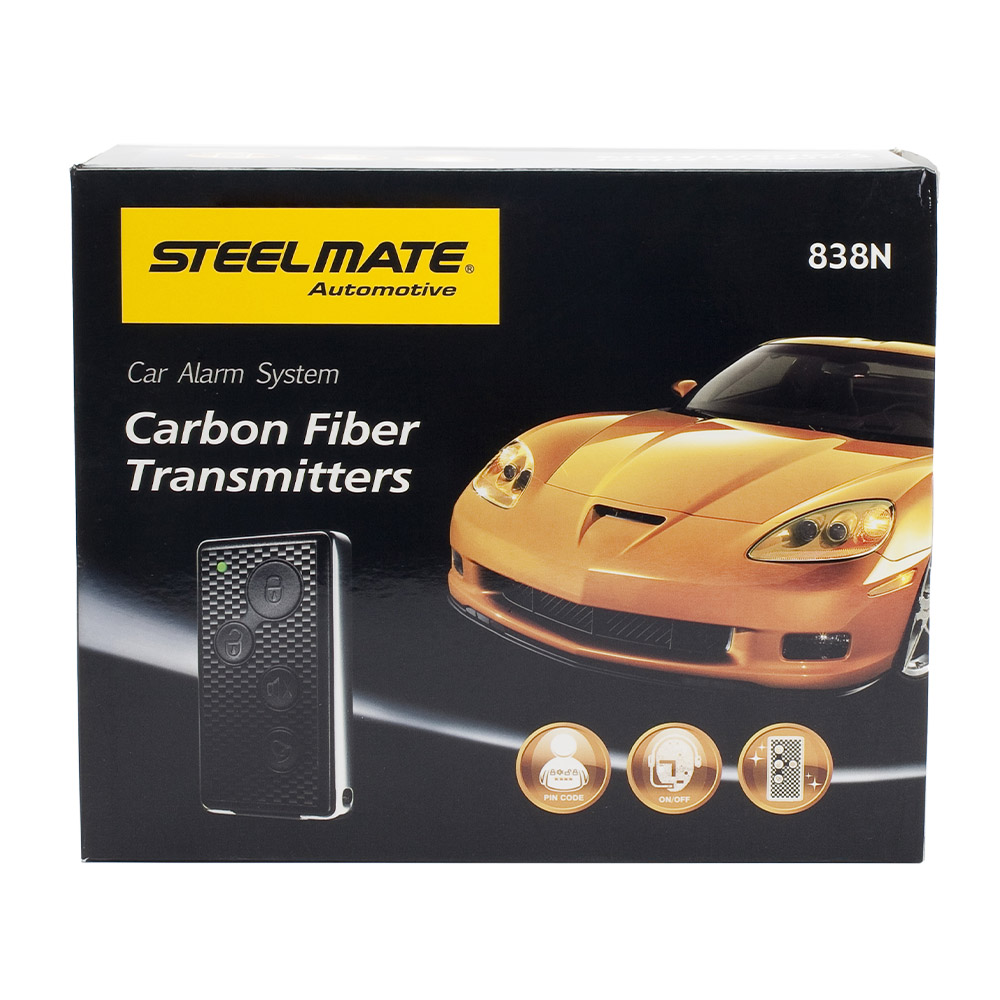 Steelmate 838N 1 Way Car Alarm System Match Central Locking & Window Closer Anti-hijacking Remote Trunk Release with Transmitter