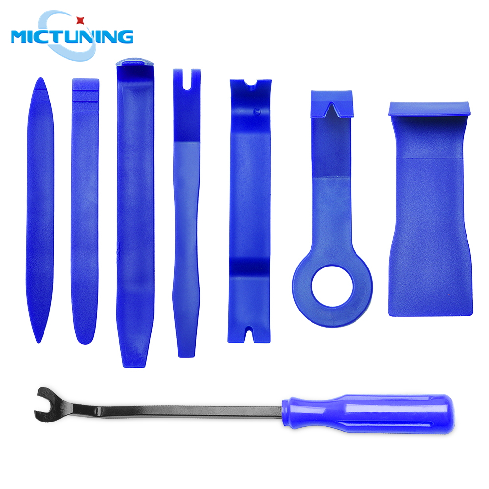 MICTUNING 8pcs Car Repair Tool Kit Interior Trim Panel Dashboard Installation Removal Tools Auto Radio Repair Hard Plastic Tools