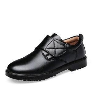الفتيان الزفاف أحذية من الجلد للأطفال جلد طبيعي أحذية مدرسة الأطفال أكسفورد اللباس مأدبة الأسود المطاط وحيد جلد الخنزير داخل