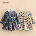 New Autumn Girls Dress Floral Princess Dress Long Sleeve School Dress Children Clothing Baby Girl Clothes Kids Dresses for Girls