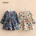Nuevo Otoño Niñas Vestido Floral de La Princesa Vestido Vestido de Los Niños de la Escuela de Manga Larga Bebé Ropa de la Muchacha Niños Vestidos para Niñas