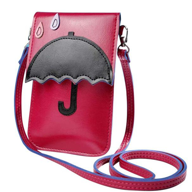 855d08915cd6 2017 Hot Sales Women Fashion Cute Cartoon Purse Bag Leather Cross Body  Shoulder Phone Bag New Brand And High Quality A9-in Shoulder Bags from  Luggage   Bags ...