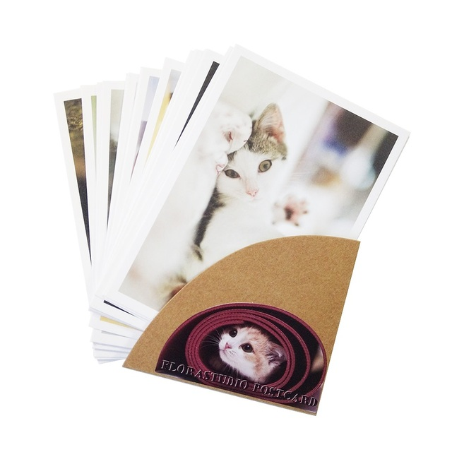 28PCS/lot New cute cartoon cat series of postcards group/greeting card / gift cards / Zakka office stationery retail