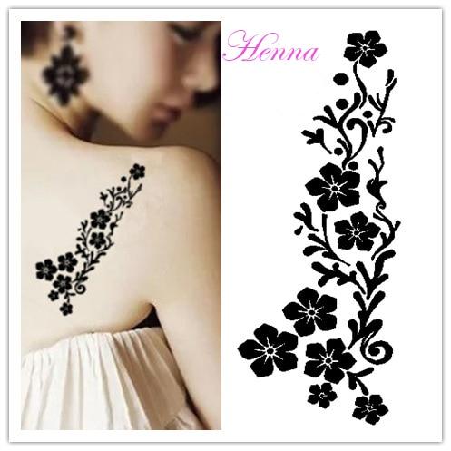 New Henna Tattoo Stencils 6pcs Lot Beautiful Temporarytattoo