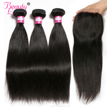 Human Hair Bundles Brasilian Straight Hair Weave 1 Bundles 8-28 inch Natural Color Kan Køb 3/4 Piece Non Remy Beauty Lueen Hair