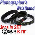Photographer's Wristband SET/ Stop Lens Zoom Creep /Aperture+Focus+Focal Length