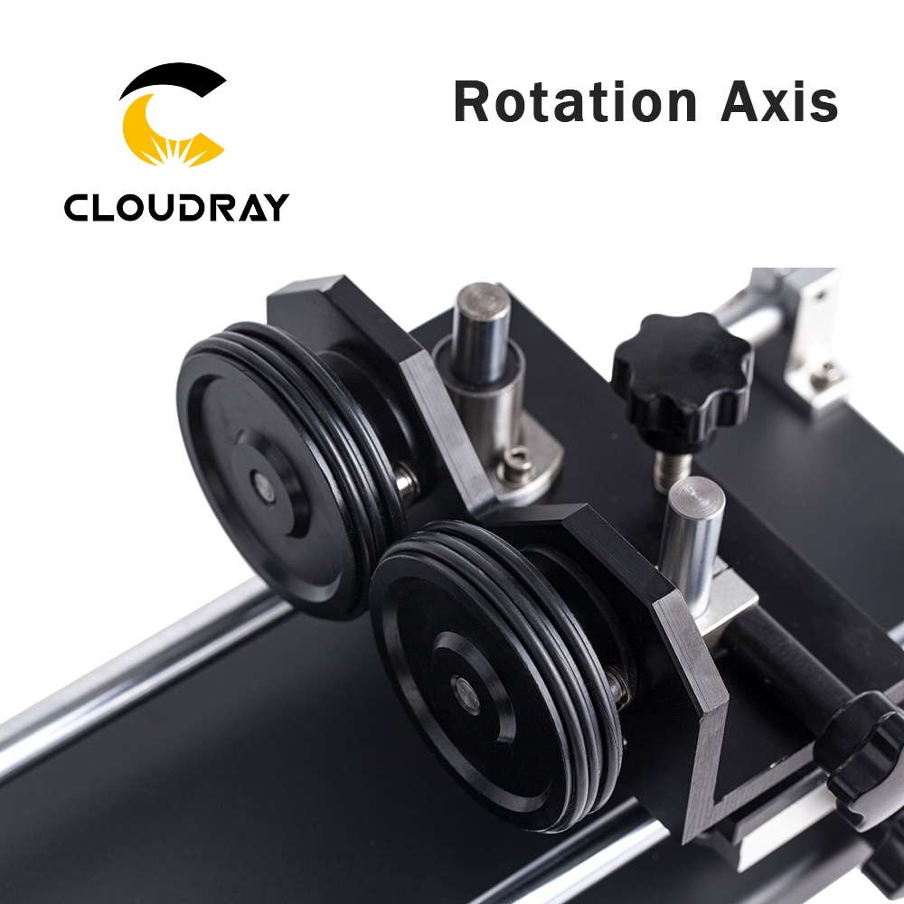 Cloudray Rotary Engraving Attachment with Rollers Stepper Motors for Laser Engraving Cutting Machine Model A