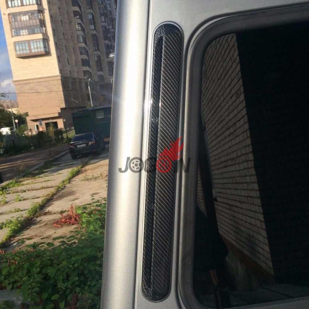 2pcs carbon fiber C pillar Air vent for Mercedes Benz G class W463 G500 G63  2010+ trim covers