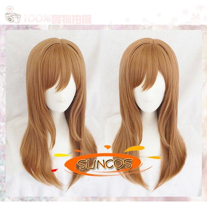 SUNCOS 2016 New arrival LoveLive!Sunshine!! Love Live Wig Hanamaru Kunikida Linen lovely cosplay wig Heat resistance fibre+Cap