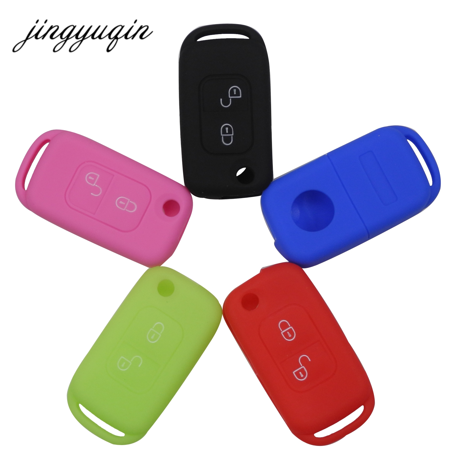 Jingyuqin Cover Fob-Case Car-Remote-Key W202 W203 SLK 2-Button E-S-W168 Silicone Mercedes-Benz