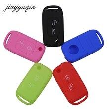Jingyuqin غطاء سيليكون لمرسيدس بنز SLK E113 A C E S W168 W202 W203 الوجه للطي سيارة عن بعد حافظة مفتاح السيارة الأتوماتيكية 2 زر