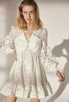 EASYSMALL/женское платье в стиле кантри, белое, свежее, высококачественное, вечерние, уличная, с высокой талией, короткие платья
