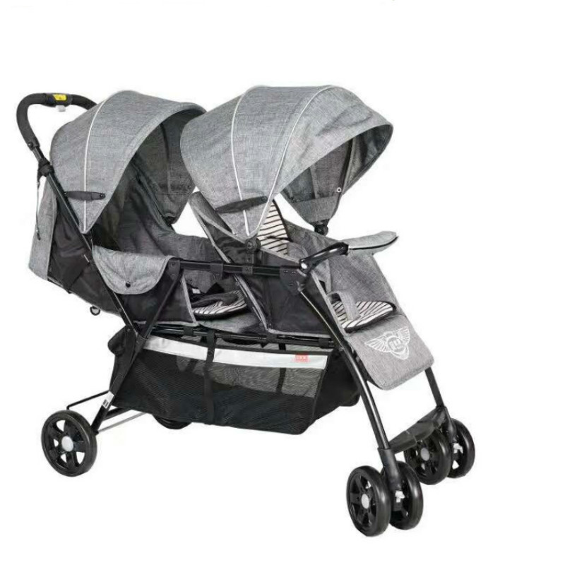 Light Foldable Twins Baby stroller Carriage, Netweight 9.6KG Newborns Twins Stroller with 8 wheels, adjust seat twins pram цена