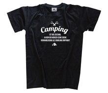 Camping - wo der Mensch seine Verwahrlosung als Caravan Zelt Fun T-Shirt S - 3XL Harajuku Tops t shirt Fashion Classic Unique der uberflussige mensch