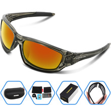 TOREGE 2017 New Men's Polarized Sunglasses For Climbing Golf Polarised Goggles Style Male Fashion Eyewear UV400 Glasses