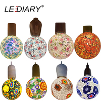 Lediary新しいカラフルなledライト装飾電球100ボルトの240ボルトe27 4ワットg120ガラス花