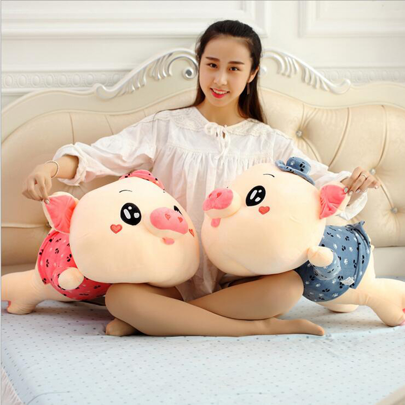 Hot Sale Lovers Pig Wearing Clothe Plush Toy Stuffed Animal Soft Plush Doll Children Birthday or New Year Gift in Stuffed Plush Animals from Toys Hobbies