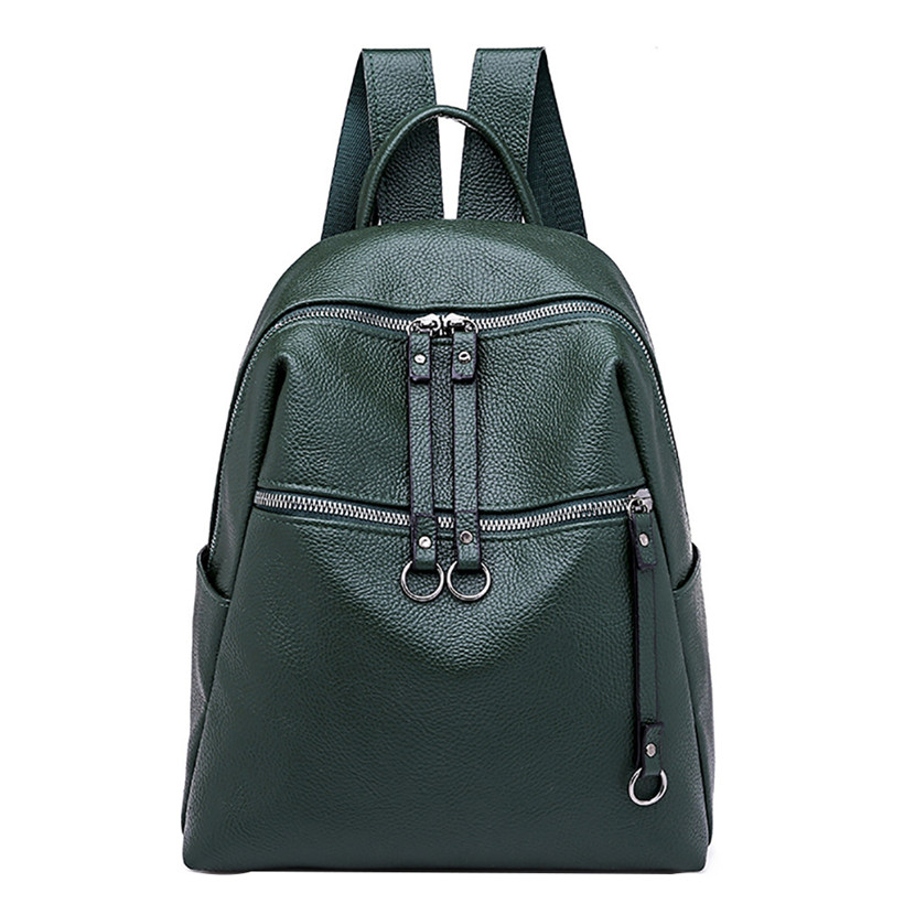 HTNBO New Travel Backpack Korean Women Female Rucksack Leisure Student School bag Soft PU Leather School Bags for Teenage Girls HTNBO New Travel Backpack Korean Women Female Rucksack Leisure Student School bag Soft PU Leather School Bags for Teenage Girls