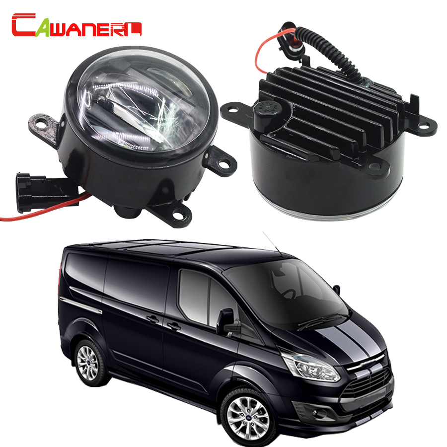 Cawanerl 2 x car right left fog light led daytime running lamp drl accessories for ford transit platform chassis 2006 2015