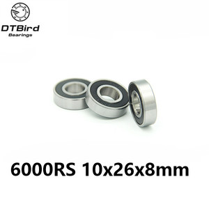 6000-2RS 10x26 x8 mm Hybrid Ceramic deep groove ball bearing 6000 2RS 6000RS 10*26*8mm for bike part bicycle Bearing