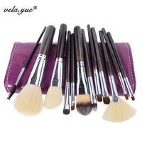 Professional SABLE HAIR 12PCS Makeup Brushes Set High Quality Cosmetic Tools Kit Free Shipping