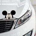 Funny Car Наклейка Симпатичные Микки Маус Выглядывает Крышка Царапины Мультфильм Окно Наклейка Для Мотоцикла Volkswagen Bmw E46 Ford Focus