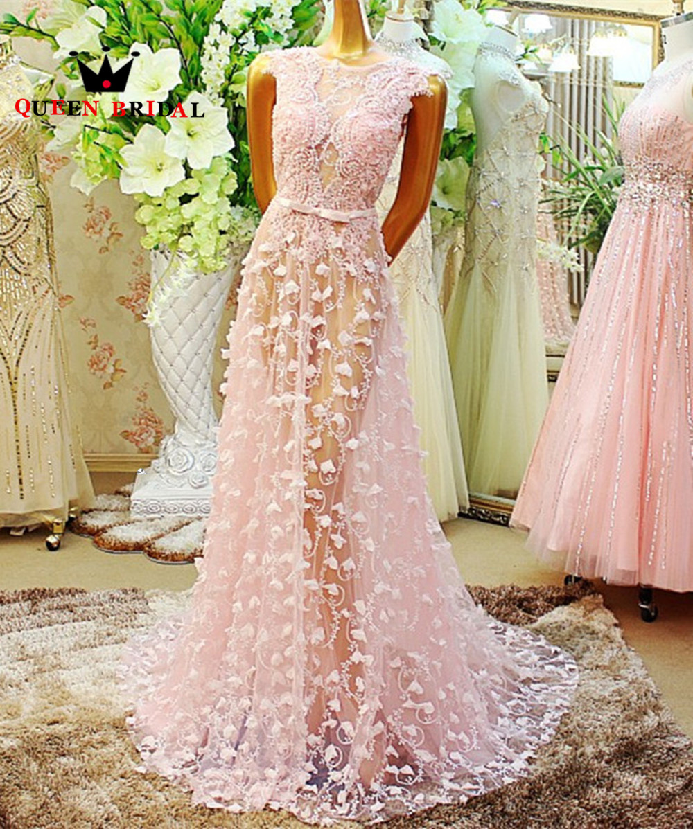 Custom Made 2017 New Design A-line Luxury Crystal Evening Dress ...