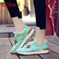 2017 Planos de La Manera de Las Mujeres Entrenadores zapatos Respirables Del Deporte Zapatos de Mujer de Cuero Genuino Informal Al Aire Libre Zapatos Para Caminar al aire libre zapatos causales