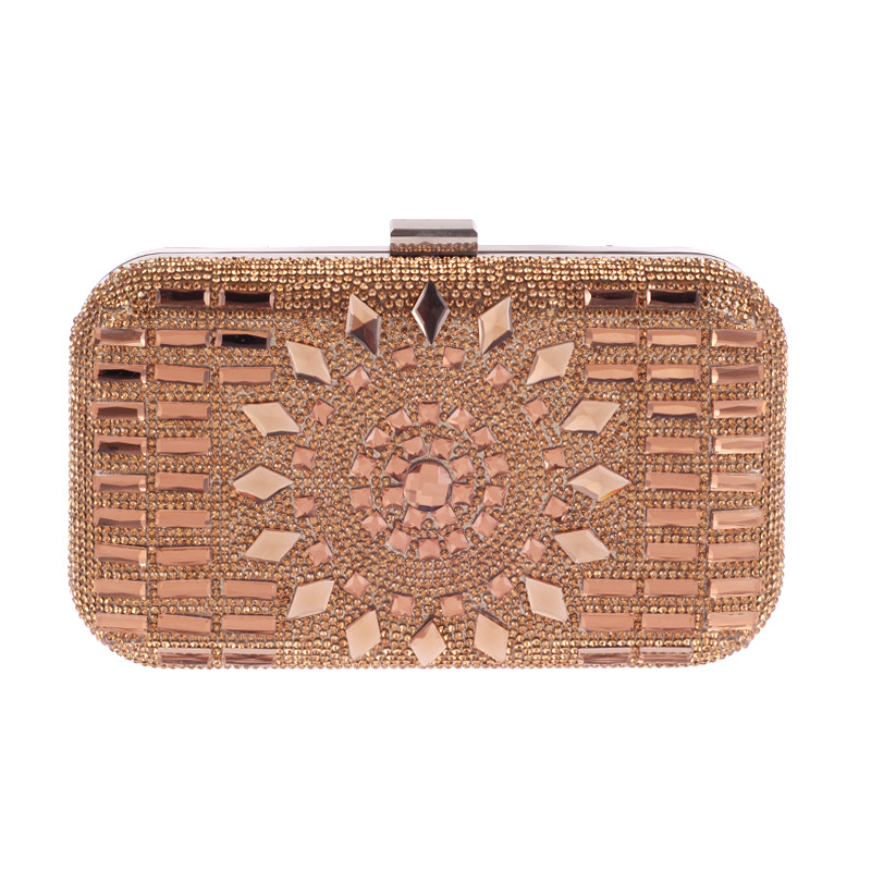 Acrylic Women Luxurious Diamonds Clutch Evening Bags Lady Messenger Shoulder Chain Bags For Wedding/Party/Dinner Handbags lady handbags women messenger black bags genuine leather circular cowhide ladies mini luxurious diamonds new year party bag