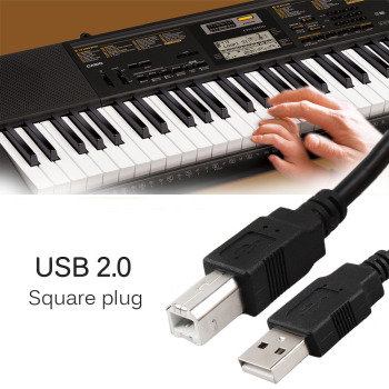 Professional 61-key Keyboard Connectors USB 2.0 Cable Silver-plated Fit for Casio CTK-2400 CTK-4400 CTK-6200 61-key Keyboard casio ctk 2400
