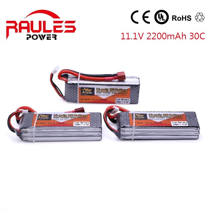 3 pcs lotto lipo ZOP 11 1v 2200mah Battery 3 s 40c XT60 font b rc