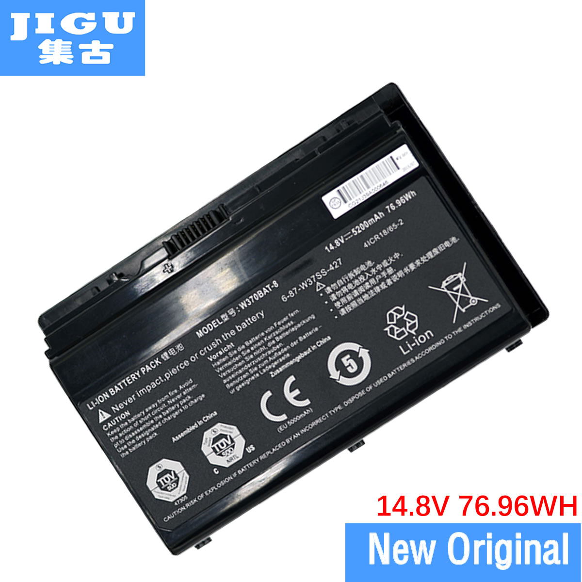 JIGU Laptop Battery 6-87-W370S-427 6-87-W370S-4271 FOR CLEVO K590S K790S NEXOC. G508II NP6350 NP6370 p370em W350ET W350ETQ clevo w550eu w540bat 6 6 87 w540s 4271 6 87 w540s 4u4 6 87 w540s 4w42 6 87 w540s 427 battery
