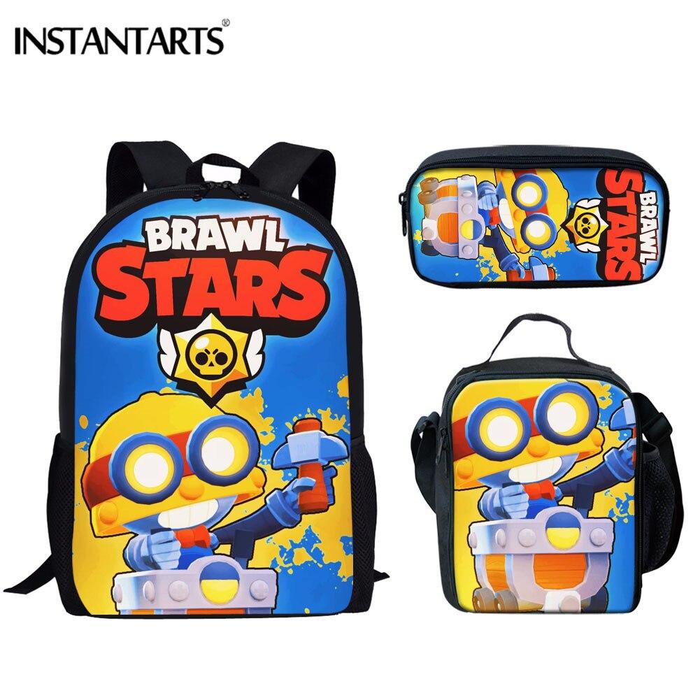 INSTANTARTS Cartoon Brawl Mochila  Boys Girls Shoulder Bag Teenager School Bag Kindergarten Crossbody Bag Mini Travel Package