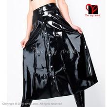 6e7a3fad9dde1f Sexy black Latex skirt full button front Rubber skirt Gummi skirt Playsuit plus  size XXXL QZ