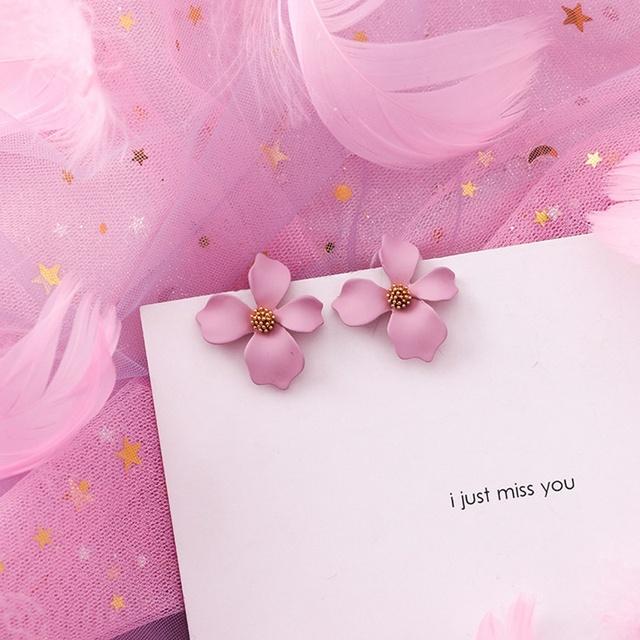 Pink Korean Earrings
