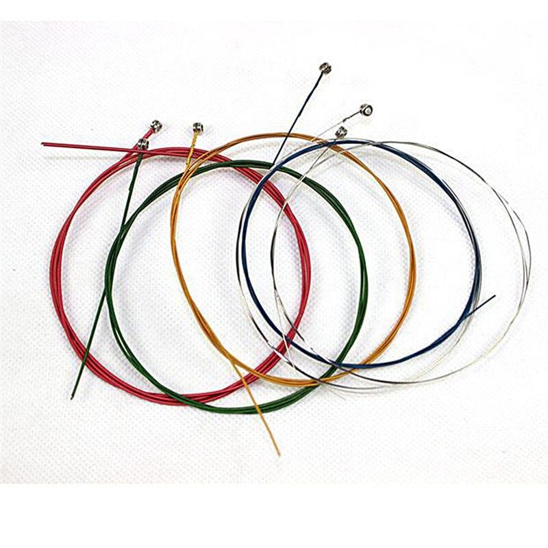 6Pcs/Set Acoustic Guitar Strings Rainbow Colorful Guitar Strings E-A For Acoustic Folk Guitar Classic Guitar Multi Color 2