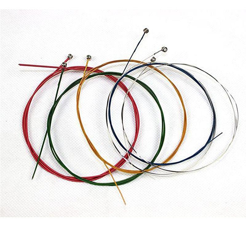 6 buc / set corzi chitara acustica curcubeu colorate corzi chitara - Instrumente muzicale - Fotografie 5