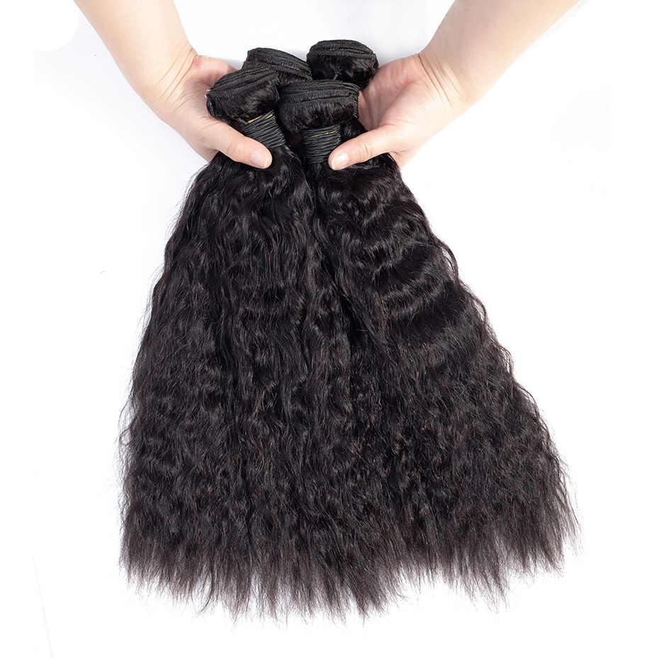 Габриэль человеческие волосы бразильские Яки прямые волосы пряди 1 шт 3 шт./партия натуральный цвет не Реми волосы для наращивания 10-26 дюймов