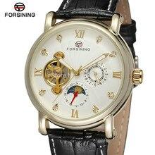 НОВЫЕ ПРИХОДЯТ! FORSINING FSG800M3G3 популярные дизайн для мужчин автоматические часы с золотой цвет корпуса серебряный циферблат с камнями