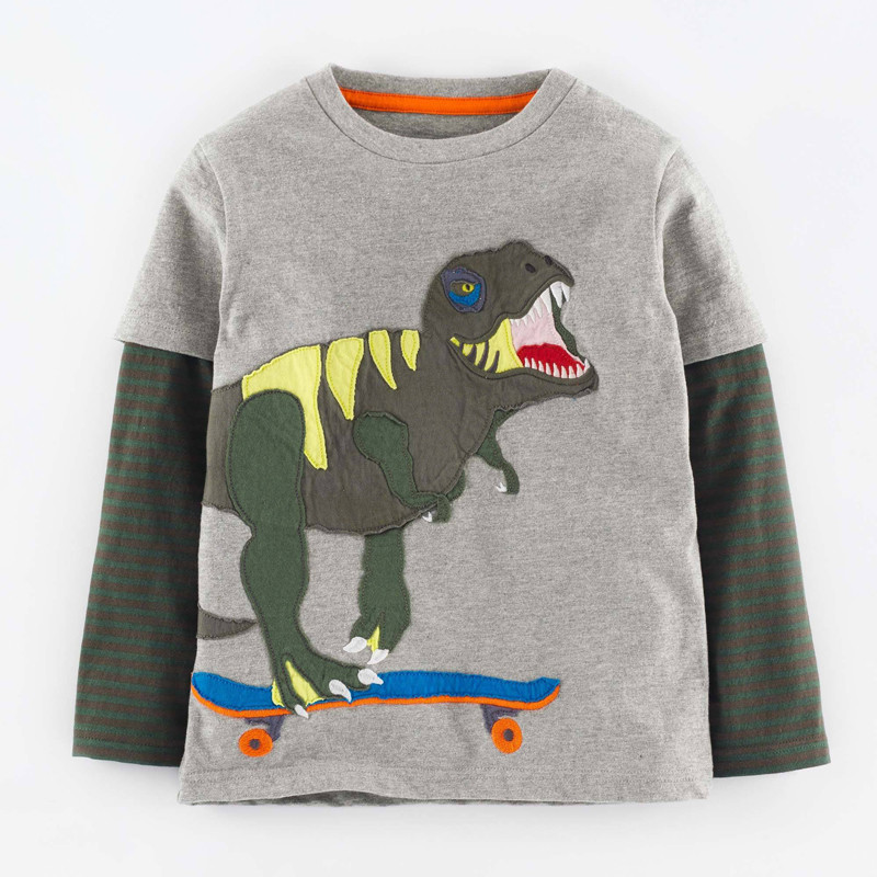 Jumping meters kids cotton t shirts dinosaur fashion boys t shirts long sleeve fashion 2018 children clothes t shirts boys wear
