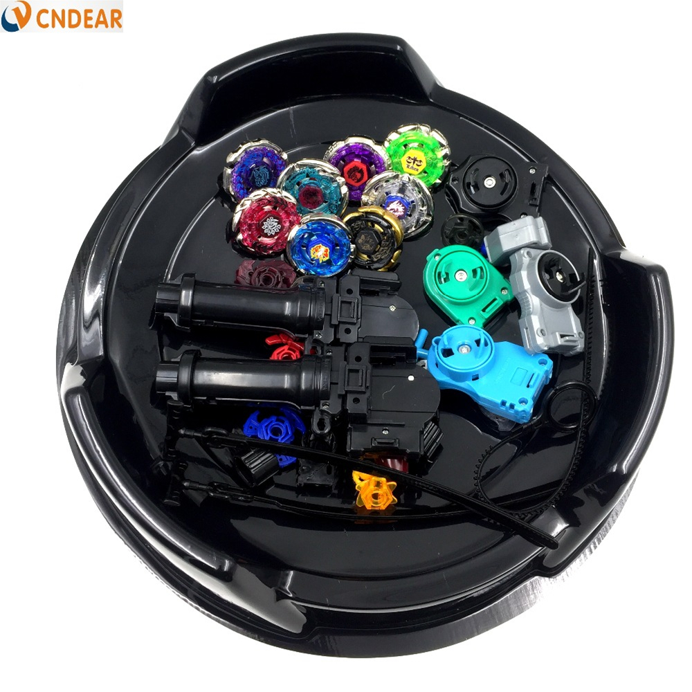 Beyblade Metal Fusion 4D Freies spinner top (8 beyblades + 4 launchers +2 grips + 2 stadiums + more than 20 spare parts ) toy
