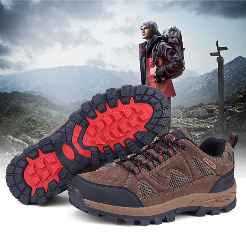Fashion Shoebox Mens Hiking Shoes Non Slip Outdoor Lace up Climbing Trail Running Shoes