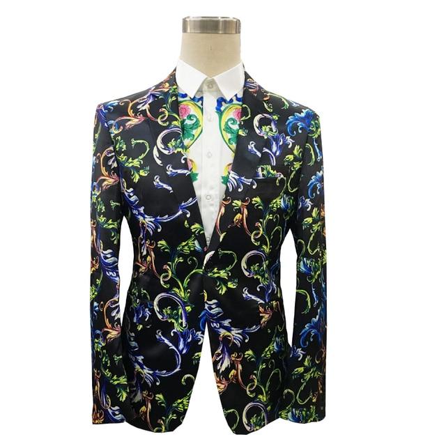 تصميم جديد زهرة الموضة برونت الرجال سترة تناسب ضئيلة فستان الزفاف سهرة العريس حفلة موسيقية بدلة السترة