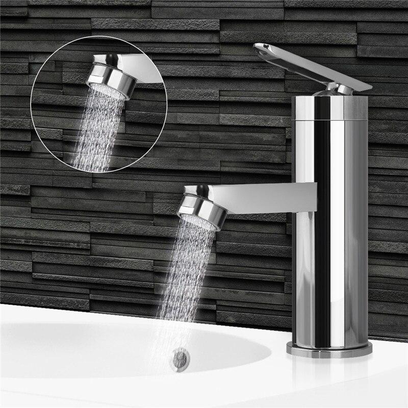 Смеситель для горячей/холодной воды с одной ручкой, Матовый хромированный смеситель для ванной комнаты, кухонный кран для раковины