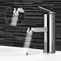 Single Handle Bathroom Hot/Cold Water Mixer Taps Brushed Chrome Basin Faucet Bathroom Kitchen Deck Mounted Basin Faucet